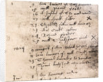 Facsimile register entry for burial of William Shakespeare on April 25 by English School