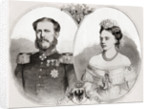 Duke William of Mecklenburg-Schwerin and his wife Princess Frederica Wilhelmina Louise Elisabeth Alexandrine of Prussia by French School
