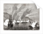 The Bombardment of Valparaiso on 31 March 1866 by French School