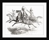 Charging Hussars or Hussards by French School