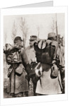 Marshal Joseph Jacques Césaire Joffre inspecting his troops by French Photographer