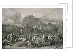 A Crowd Queues to Sign the National Covenant in front of Greyfriar's Churchyard, Edinburgh in 1638 by English School
