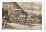 Reno Station on the Central Pacific Railway, in c.1870 by English School