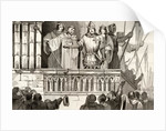 Louis VII the Young raises support for the Second Crusade in 1144 by French School