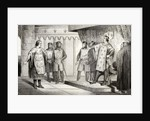 Louis VIII the Lion receives an envoy from his enemy Henry III of England by French School