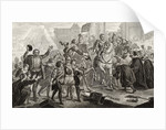 Henri IV enters Paris in 1594 by French School