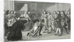 Louis XIV the Sun King presents his grandson Philippe V to the Spanish envoys by French School