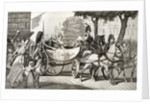 Louis XVIII enters Paris at the Restoration of 1814 by French School