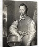 Portrait of Sir Francis Drake from 'Lodge's British Portraits' by English School