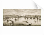 Steel Bridge Crossing the Mississippi River at St. Louis, c.1874 by English School