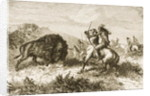 Buffalo Hunting on the Great Plains between St. Louis and Denver by English School