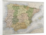 A map of Spain and Portugal by A.K. Johnston