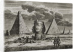 The Pyramids and Sphinx at Giza, Egypt by English School