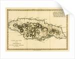 The Island of Jamaica by Charles Marie Rigobert Bonne