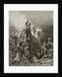 Christian Knights fight Saracens, illustration from 'Bibliotheque des Croisades' by J-F. Michaud by Gustave Dore