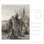 King Louis IX before Damietta, illustration from 'Bibliotheque des Croisades' by J-F. Michaud by Gustave Dore