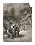 Pilgrims being fed by Peasants by Gustave Dore