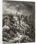 Richard I the Lionheart in battle at Arsuf in 1191 by Gustave Dore