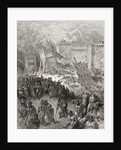 Second assault of Jerusalem by the Crusaders repulsed by Gustave Dore