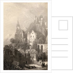 Trarbach, engraved by E.I. Roberts, illustration from 'The Pilgrims of the Rhine' published 1840 by David Roberts