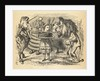The sharing of the cake between the Lion and the Unicorn by John Tenniel