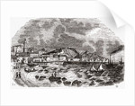 City and Port of Malaga, Spain, mid 1800s by Spanish School