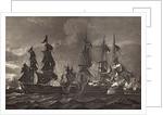 HMS Captain boarding the San Nicholas and the San Josef by Richard Westall