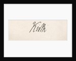Lord Keith's signature by English School