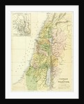 Map of Canaan, or Palestine by English School