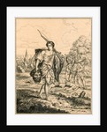 David with the head of Goliath by English School