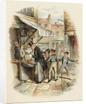 Oliver amazed at the Dodger's mode of 'Going to Work' by George Cruikshank