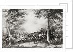 The Battle of Bossenden Wood in 1838 by English School