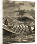 Lifeboat Going to the Rescue by English School