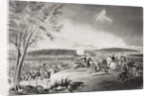 General Sickles' Division covering the retreat at the Battle of Chancellorsville, Virginia 1863 by American School