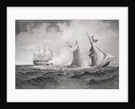 Destruction of the privateer 'Petrel' by the 'St. Lawrence' in 1861 by American School