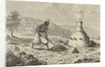 Native smelting iron ore in Fouta Djallon, Guinea, 1850s by French School