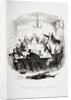 Mr. Pickwick addresses the club by Hablot Knight Browne