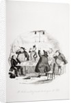 Mr. Weller and his friends drinking to Mr. Pell by Hablot Knight Browne