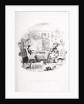 Kate Nickleby sitting to Miss La Creevey by Hablot Knight Browne