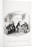 Mr. Ralph Nickleby's first visit to his poor relations by Hablot Knight Browne