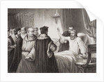 John Wycliffe on his sickbed assailed by the friars at Oxford, 1378 by George Housman Thomas