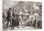 Lord Saye and Sele brought before Jack Cade, 4th July 1450 by Charles Lucy