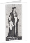 Henry VII from 'Illustrations of English and Scottish History' Vol I by J.L. Williams