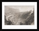 Interior of the Colosseum, Rome by English School