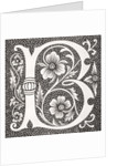 Decorated letter 'B' by French School