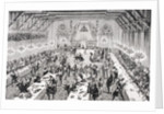 Grand Ceremonial Banquet at the French Court in the 14th century by from 'Le Moyen Age et La Renaissance' by Paul Lacroix published 1847