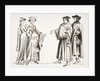 Noble Lady and Maid of Honour and Two Burgesses by French School