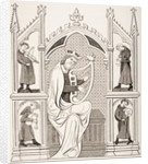 King David Playing the Lyre surrounded by Four Musicians by French School