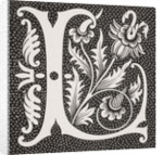 Decorated letter 'L' by French School