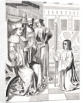 Jacques Coeur paying homage to Charles VII by French School